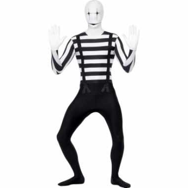 Pantomime second skin kostuum voor carnaval