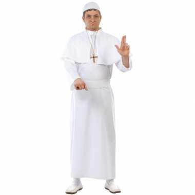 Paus kostuum volwassenen wit voor carnaval