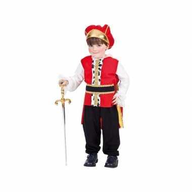 Peuter verkleedkleding koning voor carnaval