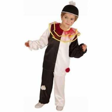 Pierrot clown kostuum voor kinderen carnaval