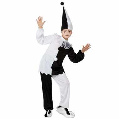 Pierrot clown pak voor kinderen carnaval