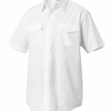Piloten shirt met korte mouwen voor carnaval