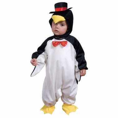 Pinguin jumpsuit kleuters voor carnaval