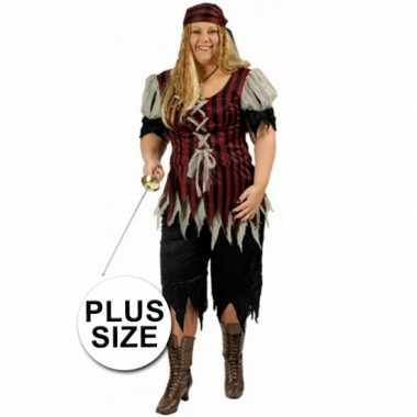 Piraten outfit grote maat voor dames carnaval