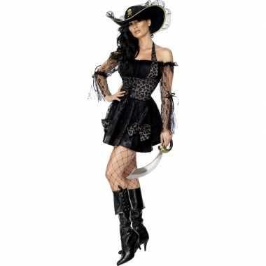 Piraten pakje dames zwart voor carnaval