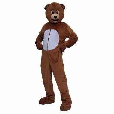 Pluche beren pak voor volwassenen carnaval