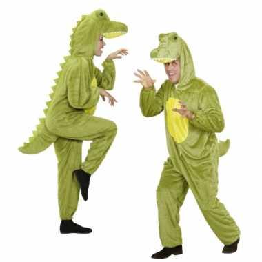 Pluche dierenpakken onesie krokodil voor carnaval
