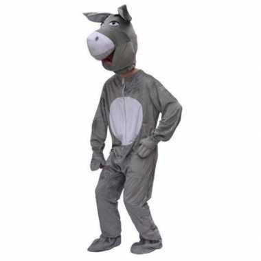 Pluche ezel kostuums volwassenen voor carnaval