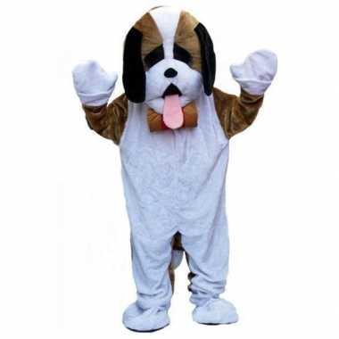 Pluche honden kostuum voor carnaval