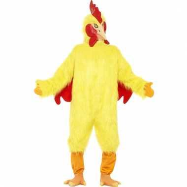 Pluche kip verkleed kleding voor carnaval