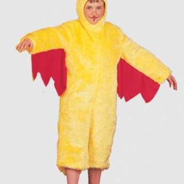 Pluche kippen outfit voor kinderen carnaval