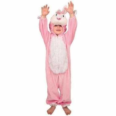 Pluche konijnen kostuum kinderen voor carnaval