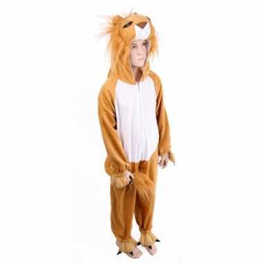 Pluche leeuw kostuum voor kids carnaval