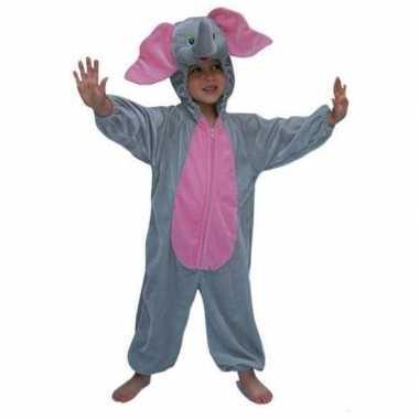 Pluche olifanten kinder kostuum voor carnaval