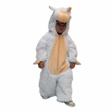 Pluche schapen kinder overall voor carnaval