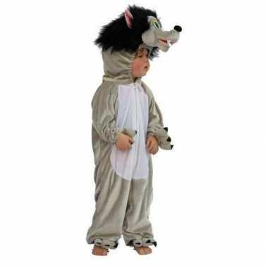 Pluche wolf outfit voor kinderen carnaval