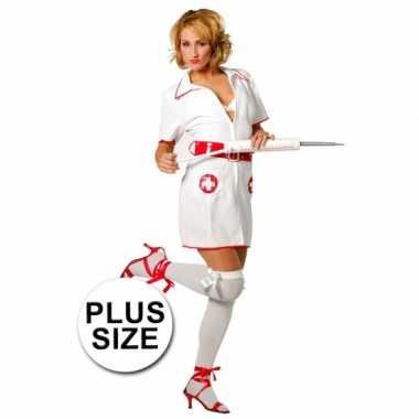 Plus size verpleegster carnavalskleding voor