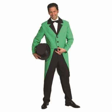 Presentator jas groen
