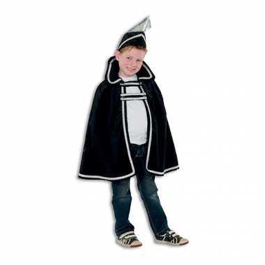 Prins carnaval kinder kleding zwart voor