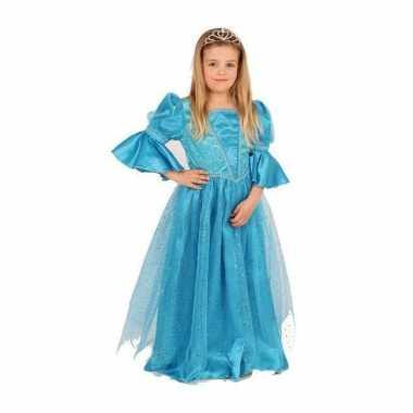 Prinsessen jurk blauw voor meisjes carnaval