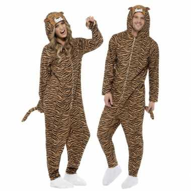 Pyamapak tijger voor dames en heren carnaval