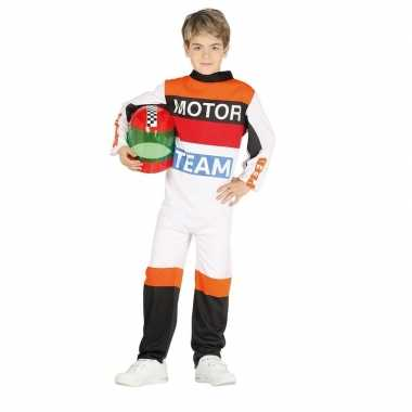 Racepak motor team voor kids carnaval