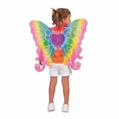 Regenboog vleugels voor kinderen carnaval