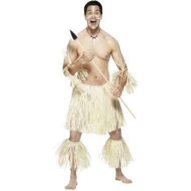 Rieten hawaiikostuum voor mannen