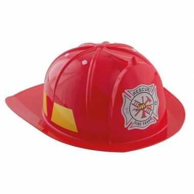 Rode brandweerhelm verkleed accessoire voor kinderen carnaval