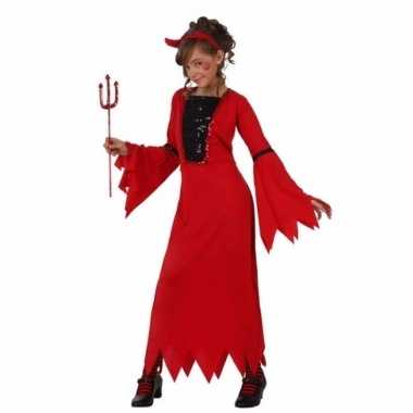 Rode duivel jurk voor meisjes carnaval
