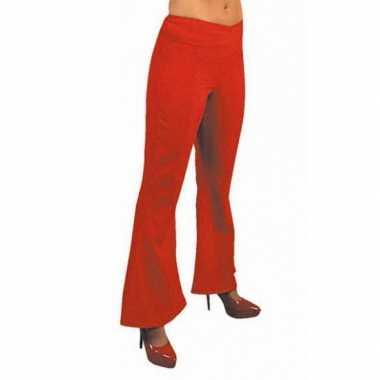 Rode hippie carnavals dames broeken voor