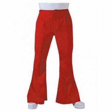 Rode hippie heren broek voor carnaval