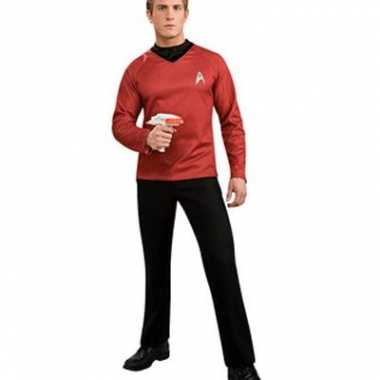Rode star trek shirts voor carnaval