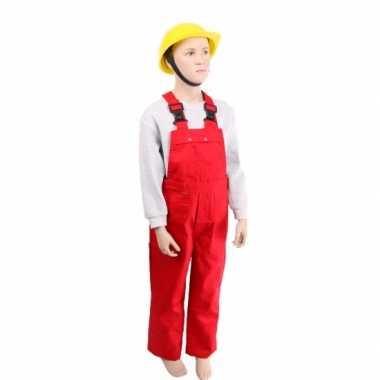 Rode tuinbroek voor kinderen carnaval