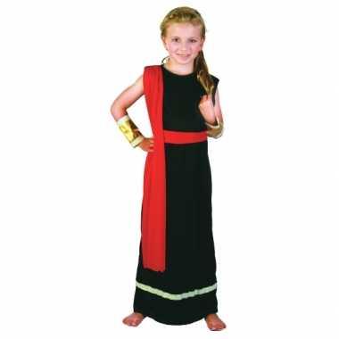 Romeins kostuum zwart rood voor meiden carnaval