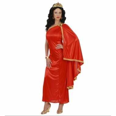 Romeinse dames jurk rood voor carnaval