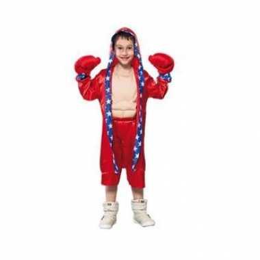 Rood bokser kostuum voor kinderen carnaval