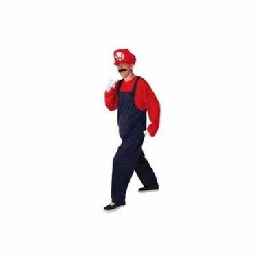 Rood heren kostuum loodgieter voor carnaval