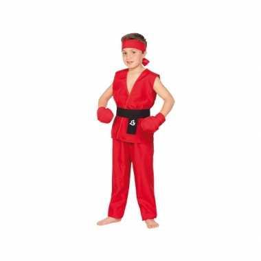 Rood Kung Fu kostuum voor kinderen carnaval