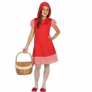 Roodkapje kinderjurkje voor meisjes carnaval