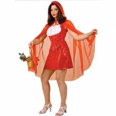 Roodkapje verkleed jurkje met cape voor carnaval