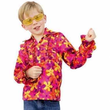 Rouche hawai blouse voor kids carnaval