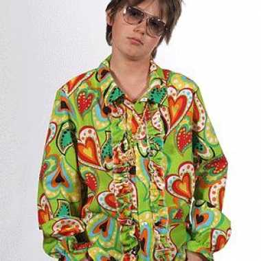 Rouche hippie blouse hartjes kids voor carnaval