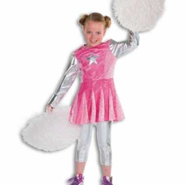 Roze cheerleaders kostuums voor meisjes carnaval