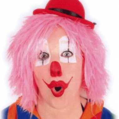 Roze clownspruiken kort haar