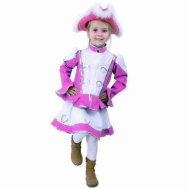 Roze dansmarieke pakje voor meisjes carnaval