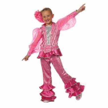 Roze disco pak voor meisjes carnaval