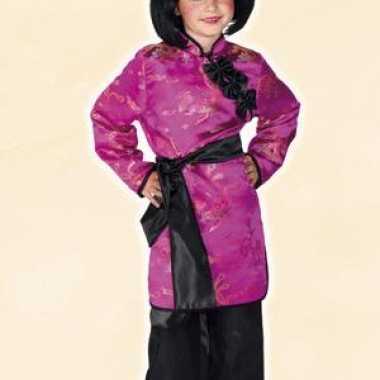 Roze geisha kostuum voor meisjes carnaval