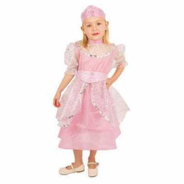 Roze jurk prinses voor kinderen carnaval