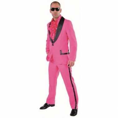 Roze maatpak voor heren carnaval